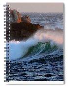 Waves Crash Against The Rocks Spiral Notebook