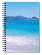 Waves Crashing On The Beach, Turtle Spiral Notebook