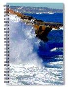 Waves Crashing On The Rocks Spiral Notebook