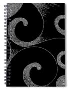 Waves Inverted In Black And White Spiral Notebook