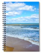 Waves Lapping On Beach 3 Spiral Notebook
