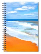 Waves Lapping On Beach 8 Spiral Notebook
