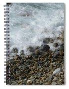 Waves Meet Pebbles Spiral Notebook