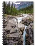 Waves Of ... Granite At Mistaya Canyon, Canada Spiral Notebook