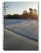 Waves Of Snow On An Ice Beach Spiral Notebook