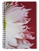 Waves Of White Spiral Notebook