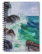 Waves On Maui Spiral Notebook