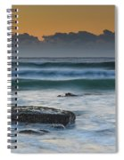 Waves Rolling In At Sunrise Spiral Notebook