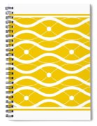 Waves With Border In Mustard Spiral Notebook