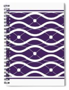 Waves With Border In Purple Spiral Notebook
