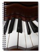 Wavey Piano Keys Spiral Notebook