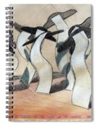 Wavey Square Orchard Spiral Notebook