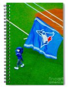 Waving The Flag For The Home Team      The Toronto Blue Jays Spiral Notebook