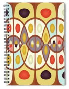 Wavy Geometric Abstract Spiral Notebook