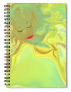Wavy Hair And Red Lips Spiral Notebook