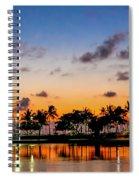 Waxing Crescent Spiral Notebook