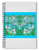 Waxleaf Privet Blooms In Aqua Hue Abstract With Aqua Frame Spiral Notebook