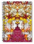 Waxleaf Privet Blooms In Autumn Tones Abstract Spiral Notebook