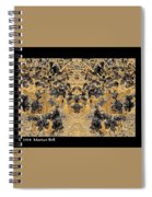 Waxleaf Privet Blooms In Black And White - Color Invert With Golden Tones Abstract Spiral Notebook