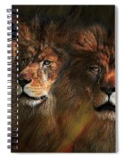 Way Of The Lion Spiral Notebook
