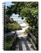 Way To The Beach Spiral Notebook