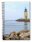 Way To The Lighthouse Spiral Notebook