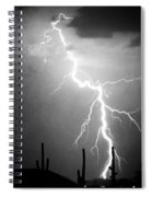 Way Too Close For Comfort Bw Print Spiral Notebook
