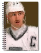 Wayne Gretzky Kings Portrait Spiral Notebook