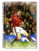 Wayne Rooney Of Manchester United Scores Spiral Notebook