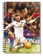 Wayne Rooney Shoots At Goal Spiral Notebook