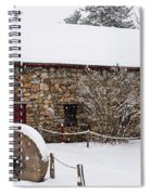 Wayside Inn Grist Mill Covered In Snow Millstone Spiral Notebook