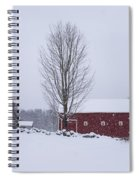 Wayside Inn Grist Mill Covered In Snow Storm 2 Spiral Notebook