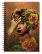 Blooms A Fragile Yellow Rose Spiral Notebook