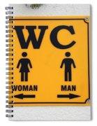 Wc Sign, Croatia Spiral Notebook