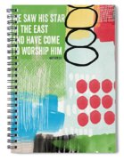 We Come To Worship- Contemporary Christmas Card By Linda Woods Spiral Notebook