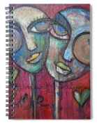 We Live With Love In Our Hearts Spiral Notebook