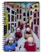 We Race Unaware Toward The End Of Days Spiral Notebook