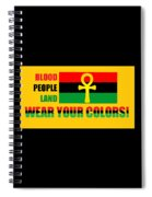 Wear Red Black And Green Spiral Notebook