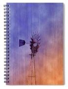 Weather Vane Sunset Spiral Notebook