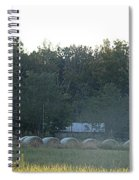 Weathered Barn And Hay Bales  Spiral Notebook