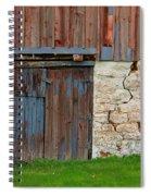Weathered Barn Door Spiral Notebook