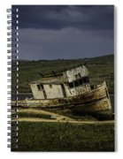 Weathered Fishing Boat Spiral Notebook