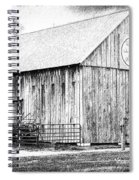 Weathered Gray - Bw Spiral Notebook