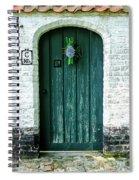 Weathered Green Door Spiral Notebook