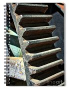 Weathered Metal Cogs Spiral Notebook