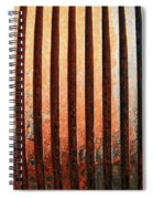 Weathered Metal With Rows Spiral Notebook