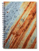 Weathered Metal With Stripes Spiral Notebook