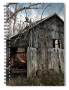 Weathered Old Abandoned Barn Spiral Notebook