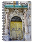 Weathered Old Artistic Door On A Building In Palermo Sicily Spiral Notebook