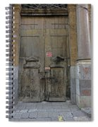 Weathered Old Door On A Building In Palermo Sicily Spiral Notebook